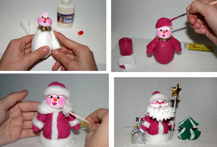 Дед мороз и сани иКак Фото поделок
