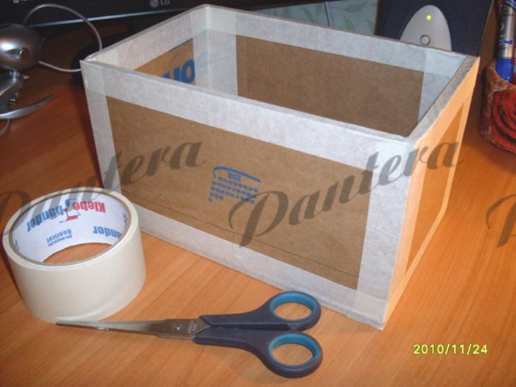 Коробка своими руками из картона для игрушек 14