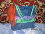 Вязание: полосатая пляжная сумка из пакетов (вязание пляжная сумка из пакетов) ФОТО #1.