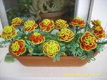 цветы из бисера Клуб мастеров и мастериц meta namedescription contentцветы из бисера, Бархатцы.